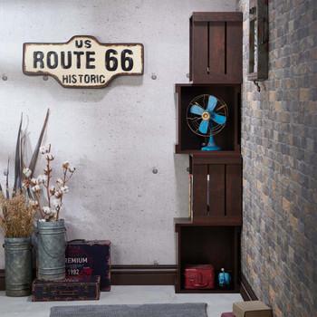 Furniture of America HFW-1687C6 Jost Rustic 4-Shelf Bookcase
