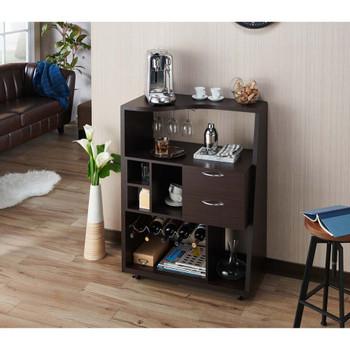 Furniture of America HFW-1871C4 Anouk Contemporary Multi-Storage Mini Bar