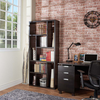 Furniture of America ID-11399 Zina Modern 9-Shelf Display Cabinet