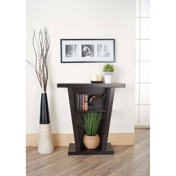 Furniture of America ID-29309 Nort Transitional Open Storage Console Table