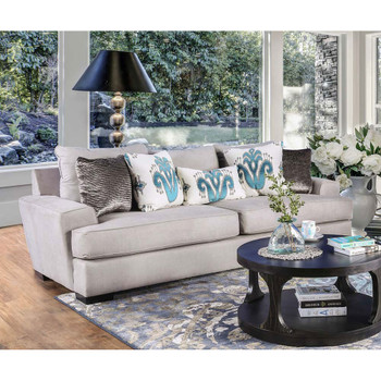 Furniture of America IDF-1223-SF Kennedy Contemporary Upholstered Sofa