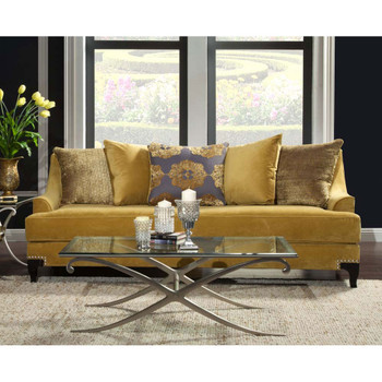 Furniture of America IDF-2201-SF Jepson Traditional Upholstered Sofa