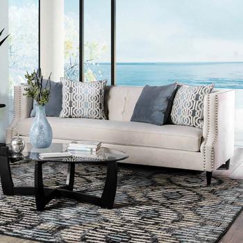 Furniture of America IDF-2217-SF Sara Transitional Tufted Sofa