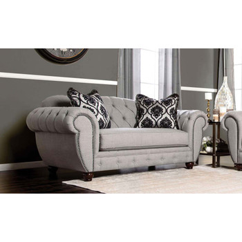 Furniture of America IDF-2291-LV Oscar Transitional Button Tufted Loveseat
