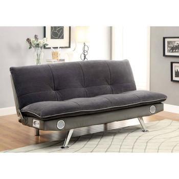 Furniture of America IDF-2675GY Surosa Contemporary Tufted Futon
