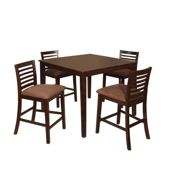 Furniture of America IDF-3001PT-5PK Landon Transitional 5-Piece Solid Wood Counter Height Dining Set