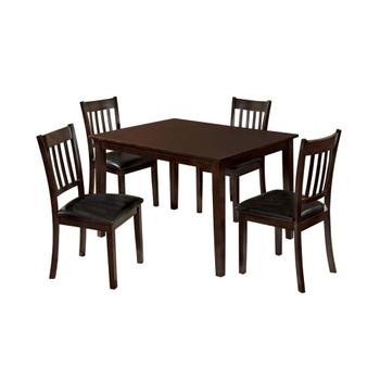 Furniture of America IDF-3012T-5PK Beckham Transitional 5-Piece Solid Wood Dining Set