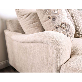 Furniture of America IDF-3074-LV Troy Contemporary Upholstered Loveseat