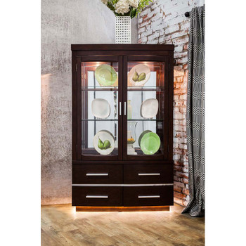 Furniture of America IDF-3130HB Lina Contemporary Curio with Touch Lights