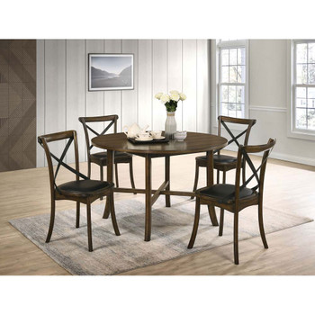 Furniture of America IDF-3148RT-5PC Marcan Transitional 5-Piece Round Dining Set