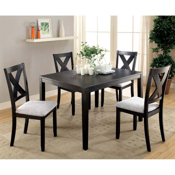 Furniture of America IDF-3175T-5PK Cameron Transitional 5-Piece Solid Wood Dining Set