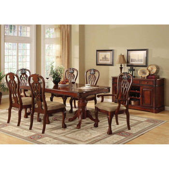 Furniture of America IDF-3222AC Meredith Traditional Padded Arm Chairs (Set of 2)