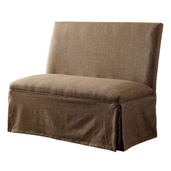 Furniture of America IDF-3341BR-LV Cullen Rustic Loveseat in Brown