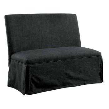 Furniture of America IDF-3341DG-LV Cullen Rustic Upholstered Loveseat in Dark Gray