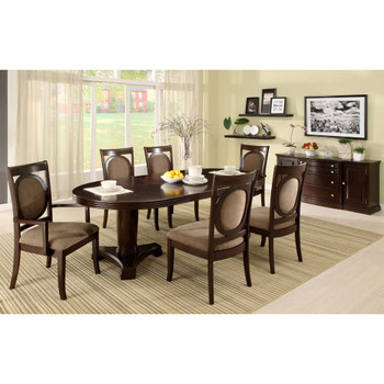 Furniture of America IDF-3418ACX2 Brielle Contemporary Arm Chairs (Set of 2)