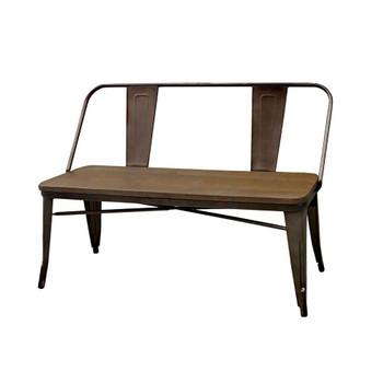 Furniture of America IDF-3529BN Lana Industrial Metal Frame Dining Bench