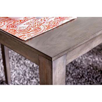 Furniture of America IDF-3607T-7PK Adinna Transitional 7-Piece Solid Wood Dining Set