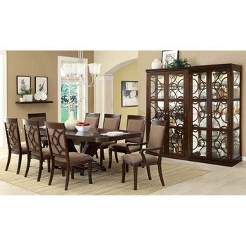 Furniture of America IDF-3663CR Evelyn Contemporary 6-Shelf Curio