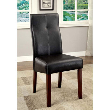 Furniture of America IDF-3824SC Wolfson Contemporary Upholstered Side Chairs (Set of 2)