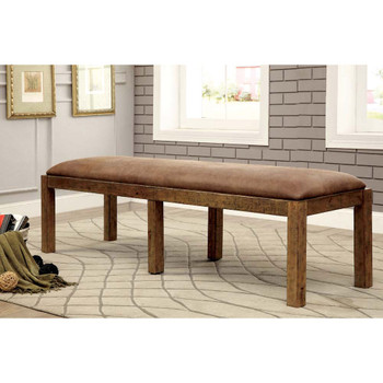 Furniture of America IDF-3829BN Lyon Cottage Padded Dining Bench