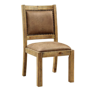 Furniture of America IDF-3829SC Lyon Cottage Padded Side Chairs (Set of 2)