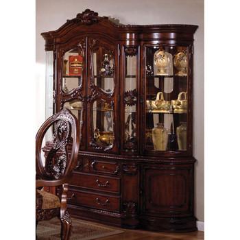 Furniture of America IDF-3845CH-HB Napa Traditional Multi-Storage Hutch and Buffet