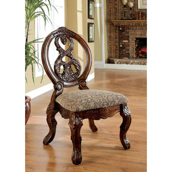 Furniture of America IDF-3845CH-SC Napa Traditional Padded Side Chairs (Set of 2)