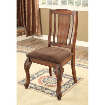 Furniture of America IDF-3873SC Hannah Traditional Padded Side Chairs (Set of 2)
