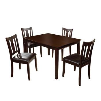 Furniture of America IDF-3888T-5PK Dautri Transitional 5-Piece Wood Dining Set
