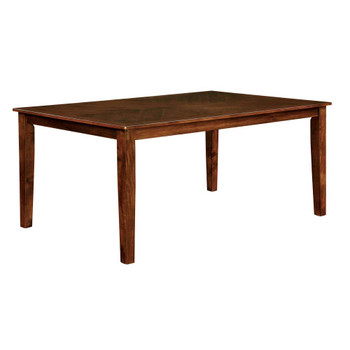 """Furniture of America IDF-3916T-60 Othello Transitional Overhang Top Dining Table, 60"""""""