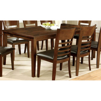 """Furniture of America IDF-3916T-78 Othello Transitional Dining Table with 18"""" Leaf, 78"""""""