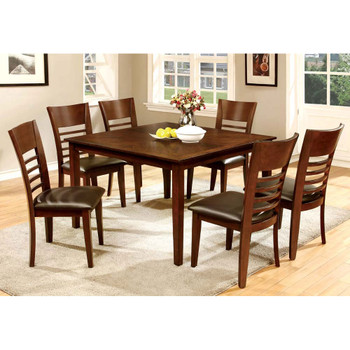 Furniture of America IDF-3916T-7PK Othello Transitional 7-Piece Wood Dining Set