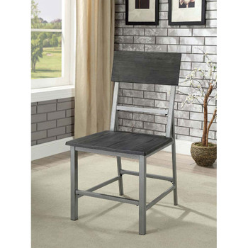 Furniture of America IDF-3921SC Avery Industrial Metal Frame Side Chairs (Set of 2)