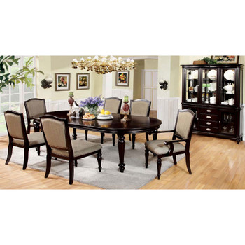 Furniture of America IDF-3970SC Harry Transitional Faux Leather Padded Side Chairs (Set of 2)