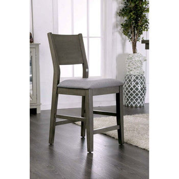 Furniture of America IDF-3986PC Judah Contemporary Padded Counter Height Chairs (Set of 2)