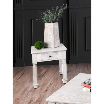 Furniture of America IDF-4089E Padron Rustic 1-Drawer End Table