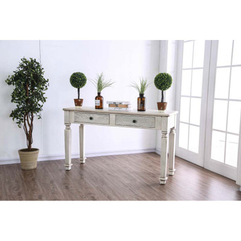 Furniture of America IDF-4089S Padron Rustic 2-Drawer Sofa Table