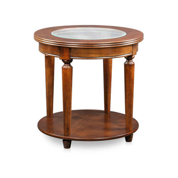 Furniture of America IDF-4131E Canello Transitional Open Shelf End Table