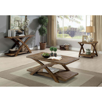 Furniture of America IDF-4178S Habert Transitional Open Shelf Sofa Table