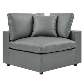 Modway EEI-4696 Commix Overstuffed Leather Corner Chair