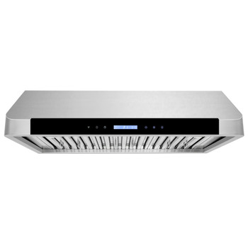 """XtremeAir Special Pro-X Series SP10-U30, 30"""", LED Lights, Baffle Filter W/ Grease Drain Tunnel, 1.0mm Non-Magnetic Stainless Steel, Under Cabinet Mount Range Hood"""