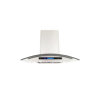"""XtremeAir Special Pro-X Series SP01-I42, 42"""" Wide, Baffle Filters, Stainless Steel, Island Mount Range Hood"""