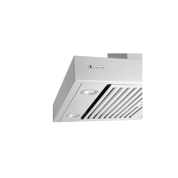 """XtremeAir Pro-X Series PX06-I42, 42"""" Wide, Easy Clean swing-able baffle Filters, Stainless Steel, Island Mount Range Hood"""