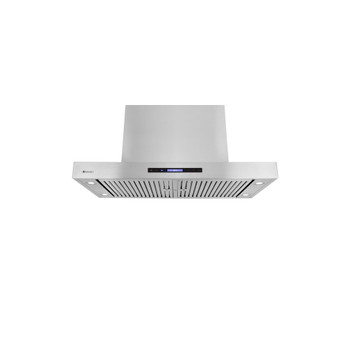 """XtremeAir Pro-X Series PX06-I48, 48"""" Wide, Easy Clean swing-able baffle Filters, Stainless Steel, Island Mount Range Hood"""
