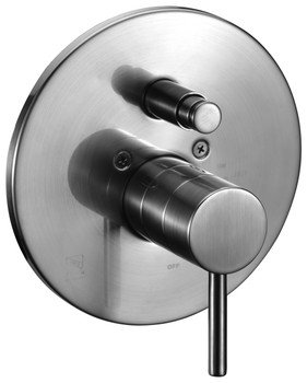 ALFI brand AB1701-BN Brushed Nickel Pressure Balanced Round Shower Mixer with Diverter