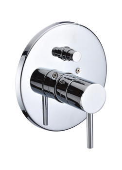 ALFI brand AB1701-PC Polished Chrome Pressure Balanced Round Shower Mixer with Diverter