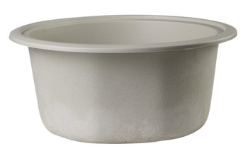 """ALFI brand AB1717UM-B Biscuit 17"""" Undermount Round Granite Composite Kitchen Prep Sink"""