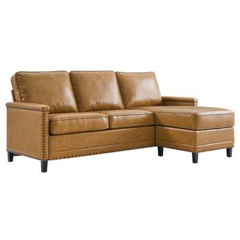 Modway EEI-4996 Ashton Vegan Leather Sectional Sofa