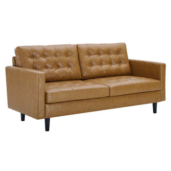 Modway EEI-4446 Exalt Tufted Vegan Leather Sofa