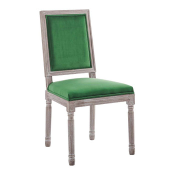 Modway EEI-4662 Court French Vintage Performance Velvet Dining Side Chair